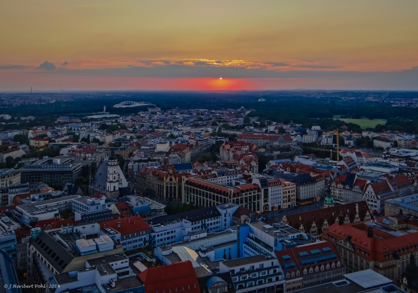 Sunset over Leipzig