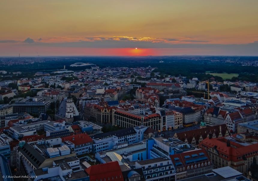 Sunset over Leipzig